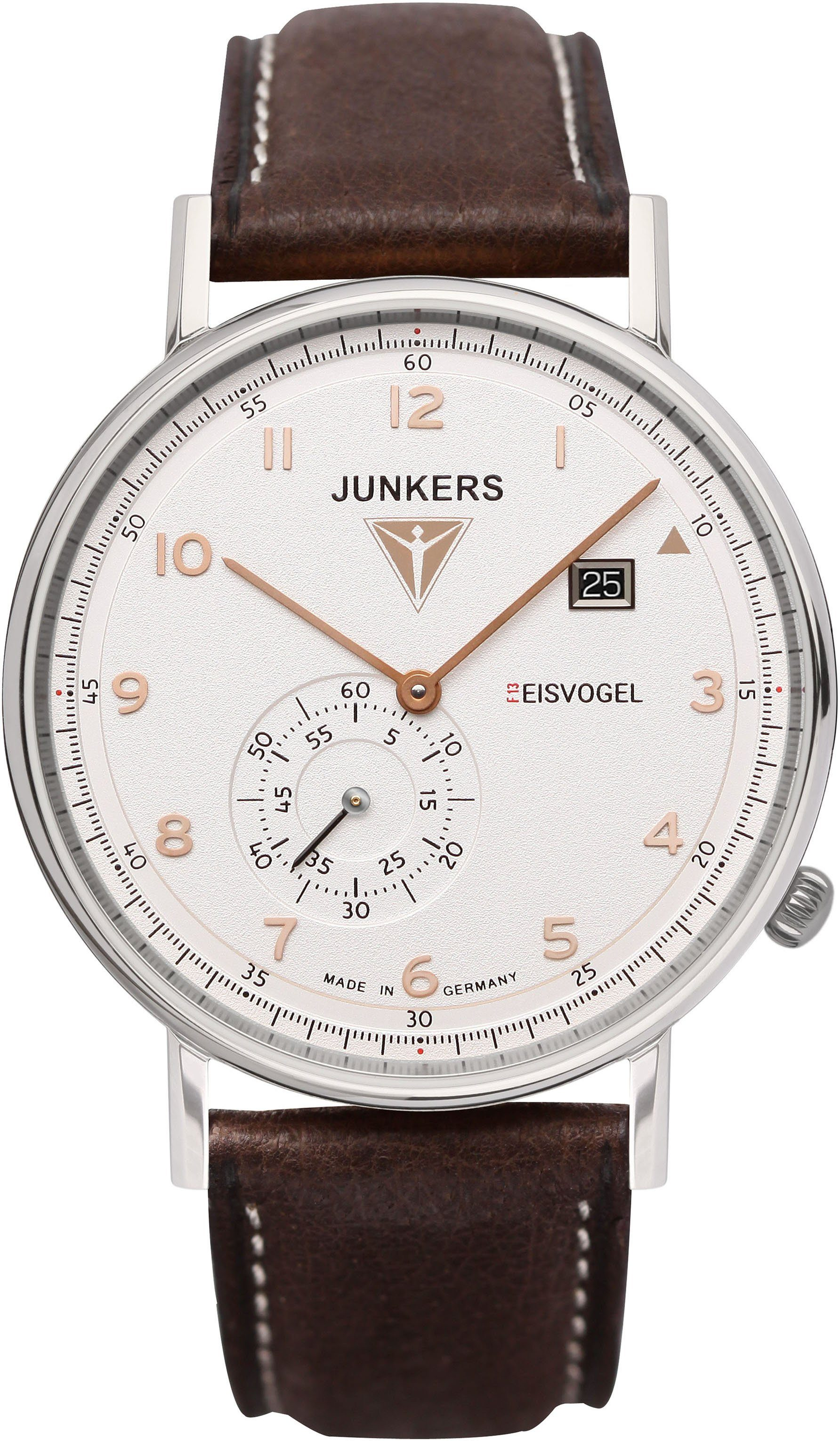 Junkers-Uhren Quarzuhr »EISVOGEL F13, 6730-4«, Made in Germany