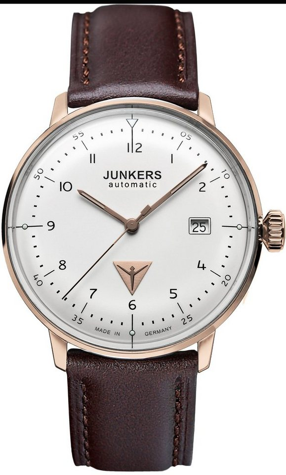 Junkers-Uhren Automatikuhr »BAUHAUS, 6058-4« Made in Germany in braun