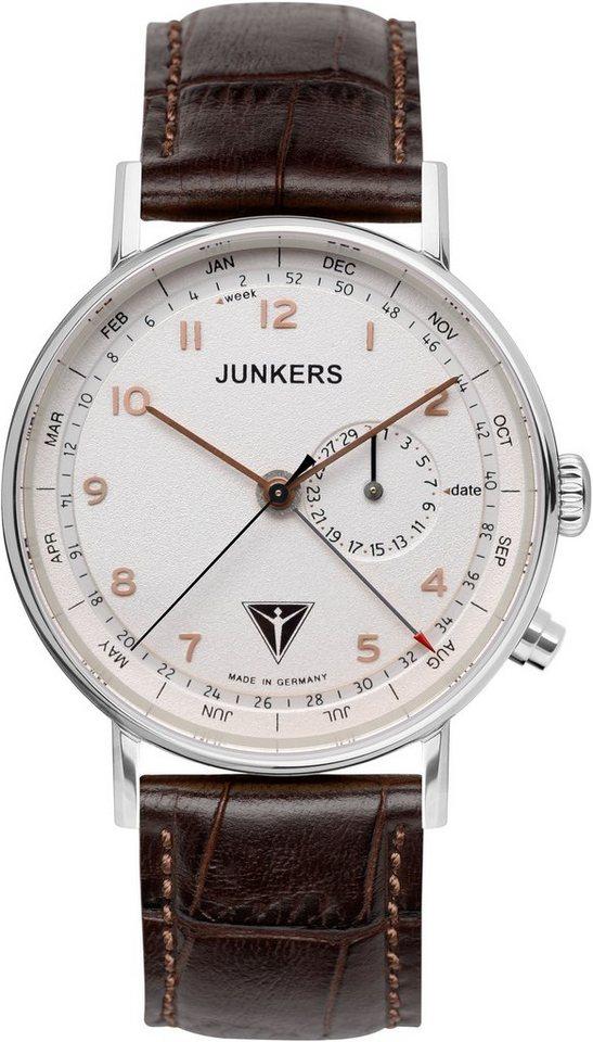 Junkers-Uhren Quarzuhr »EISVOGEL F13, 6734-4« Made in Germany in braun