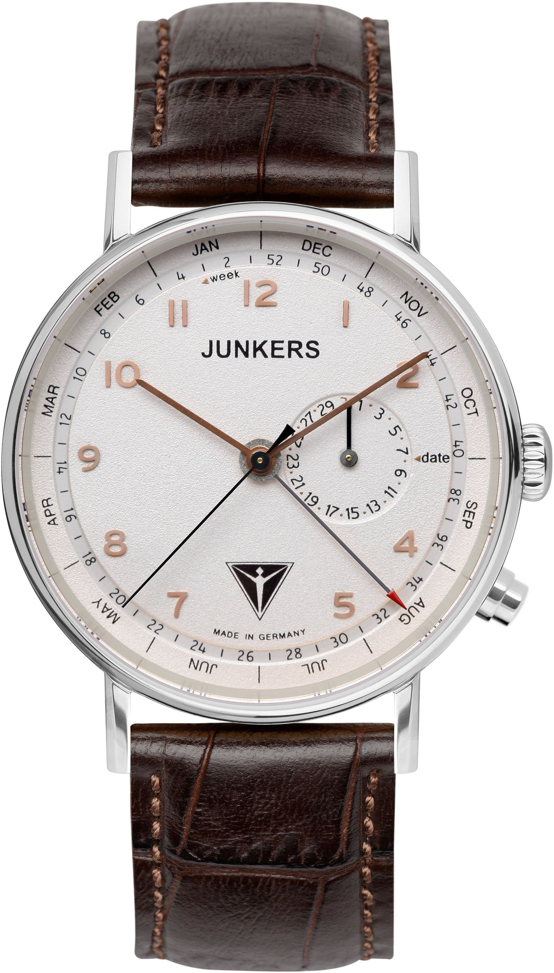 Junkers-Uhren Quarzuhr »EISVOGEL F13, 6734-4« Made in Germany
