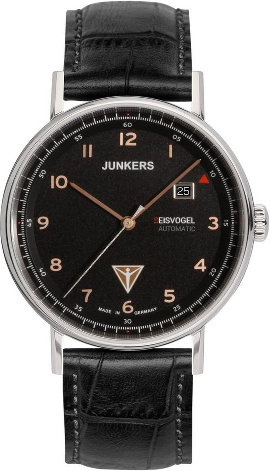 Junkers-Uhren Automatikuhr »EISVOGEL F13, 6754-5« Made in Germany in schwarz