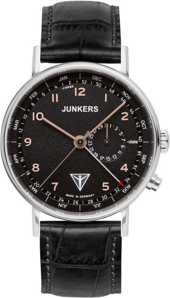 Junkers-Uhren Quarzuhr »EISVOGEL F13, 6734-5« Made in Germany in schwarz