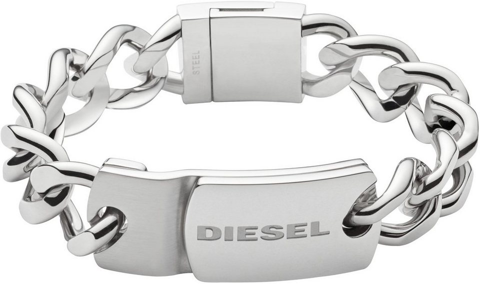 Diesel Armband , »Stacked, DX0967040« in silberfarben