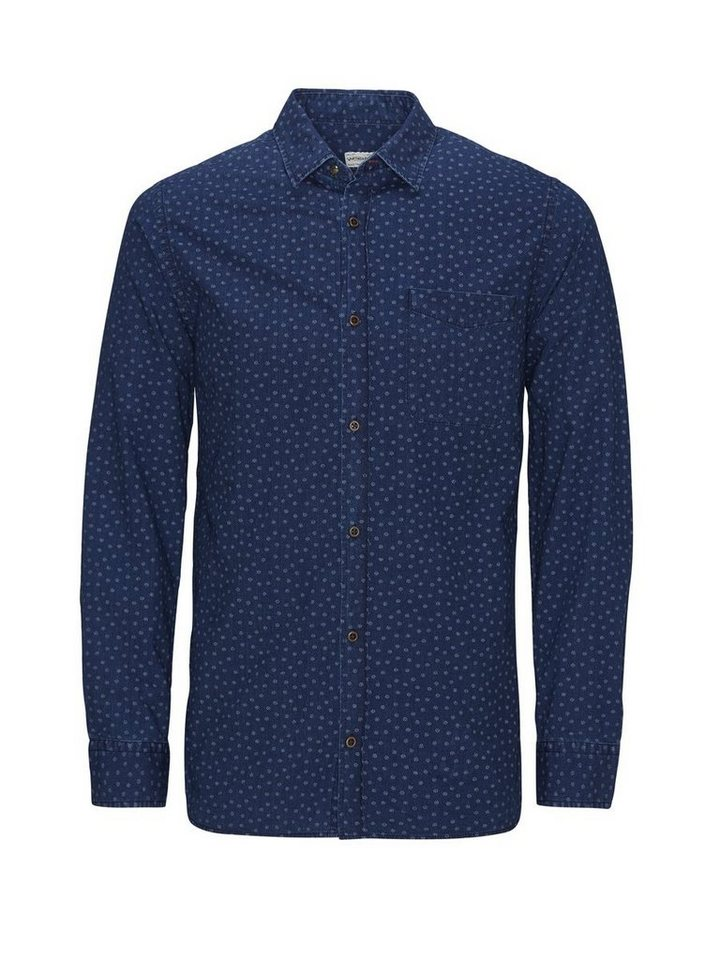 Jack & Jones Indigogefärbtes Freizeithemd in Mood Indigo