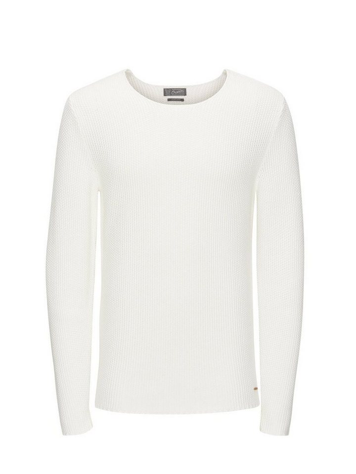 Jack & Jones Strukturierter Pullover in Cloud Dancer