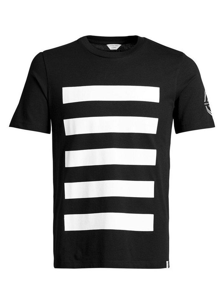 Jack & Jones Kontrastreiches T-Shirt in Black