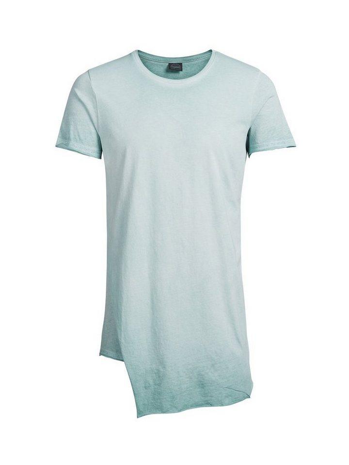 Jack & Jones Longline T-Shirt in Mineral Blue
