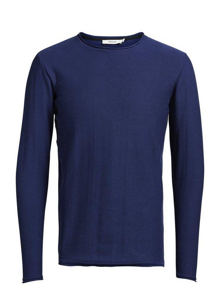 Jack & Jones Klassischer Rundhals- Pullover in Blue Depths
