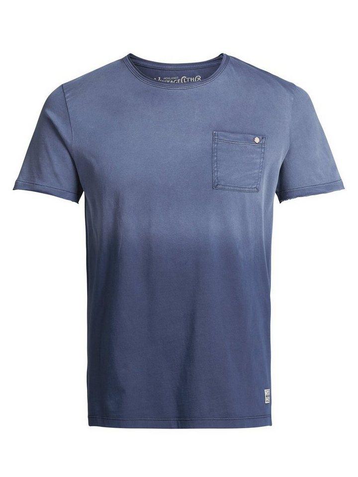 Jack & Jones Ausgeblichenes T-Shirt in Mood Indigo