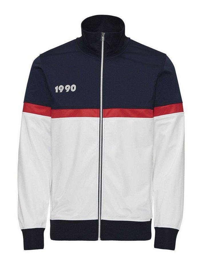 Jack & Jones Sportliches Sweatshirt mit Reißverschluss in Navy Blazer