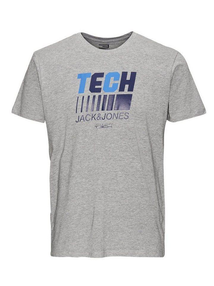 Jack & Jones Grafik- T-Shirt in Light Grey Melange