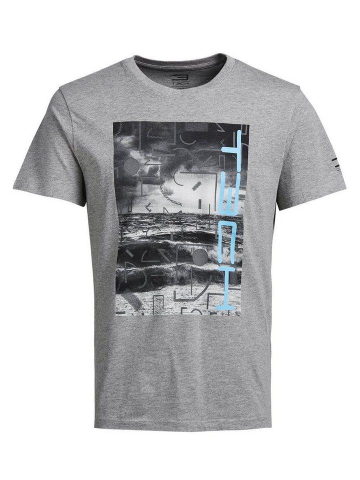 Jack & Jones Rundhalsausschnitt T-Shirt in Light Grey Melange