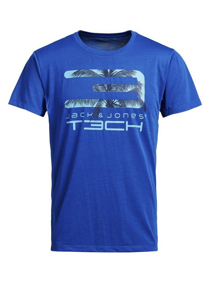Jack & Jones Bedrucktes T-Shirt in Victoria Blue