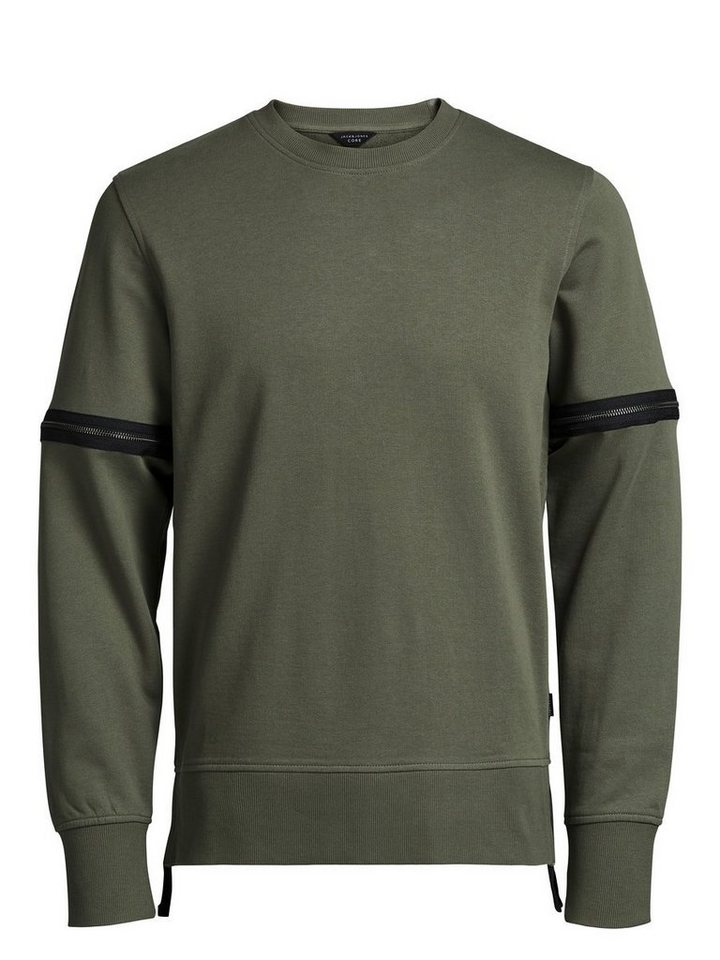 Jack & Jones Reißverschluss- Sweatshirt in Dusty Olive