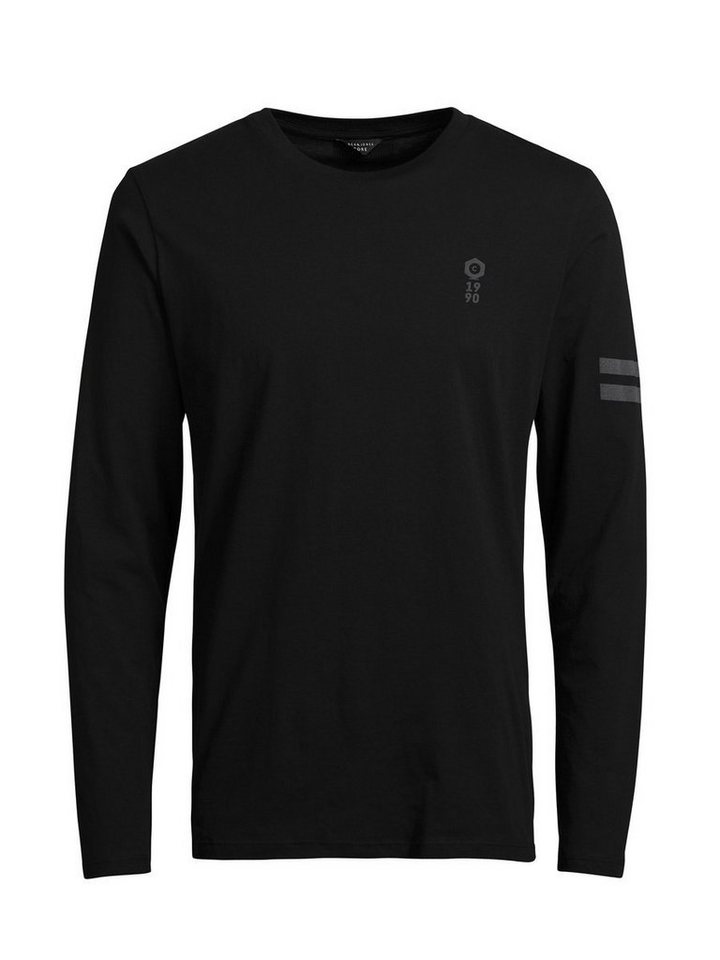 Jack & Jones Mit reflektierenden Details verziertes T-Shirt in Black