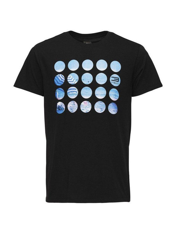 Jack & Jones Bedrucktes Regular fit T-Shirt in Black