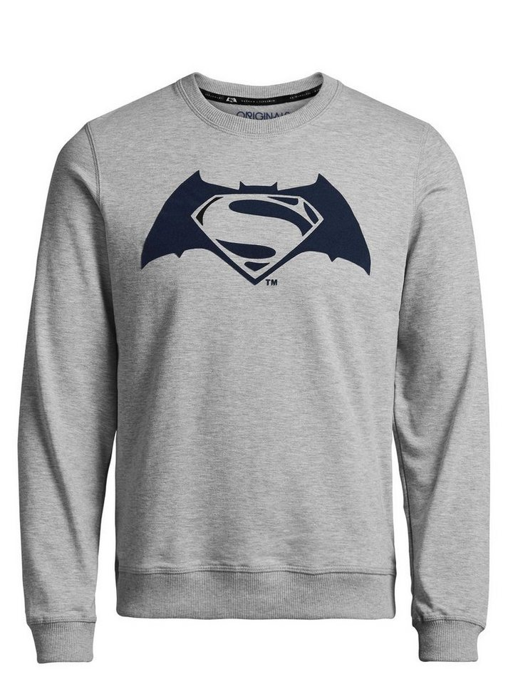 Jack & Jones Batman v Superman Sweatshirt in Light Grey Melange