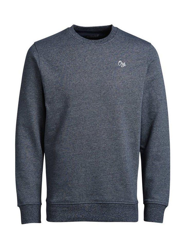 Jack & Jones Melange- Sweatshirt in Navy Blazer