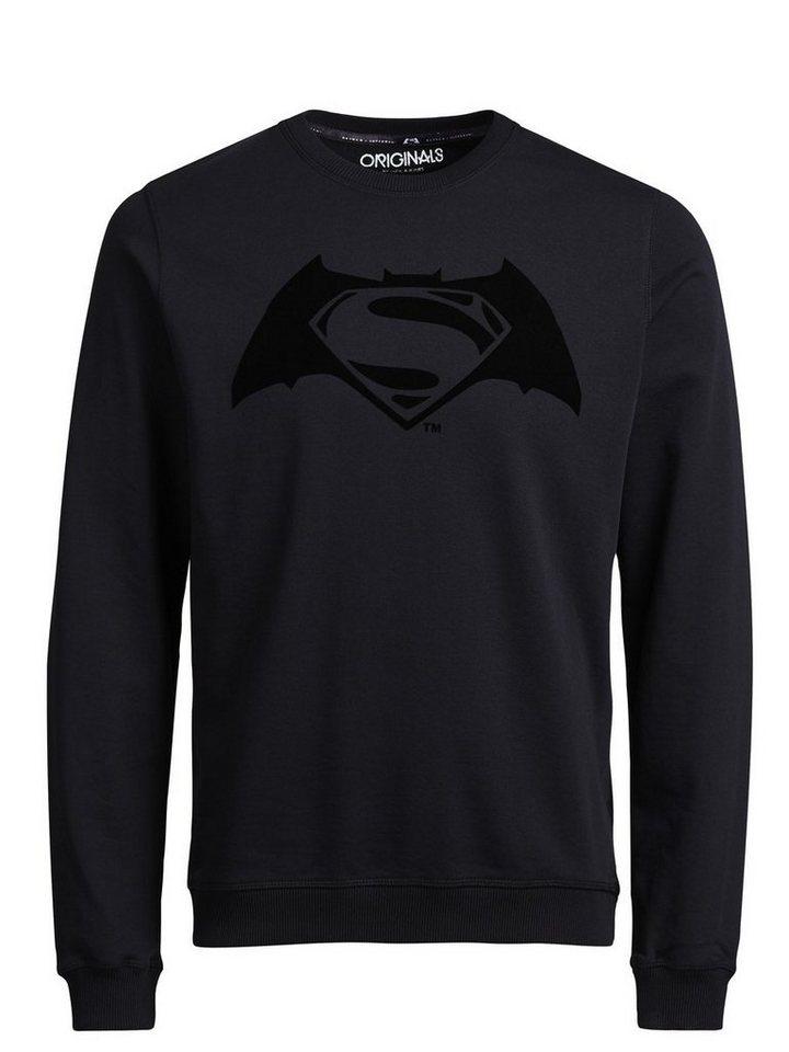 Jack & Jones Batman v Superman Sweatshirt in Black