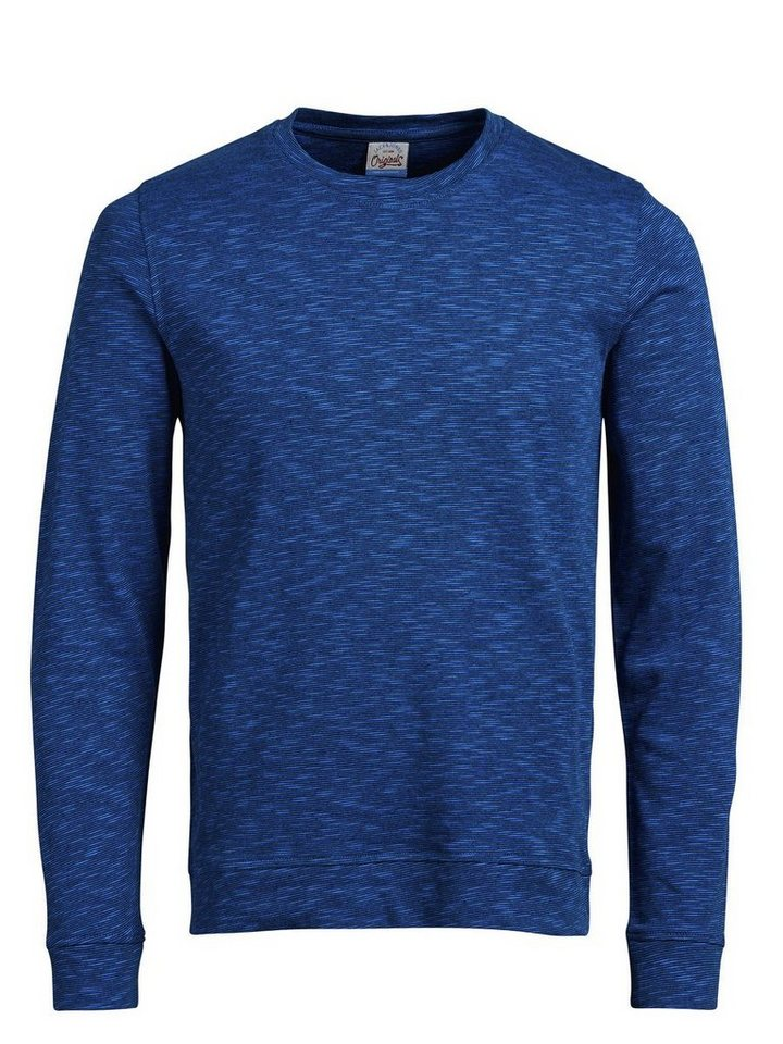 Jack & Jones Strukturiertes Jersey- T-Shirt in Imperial Blue