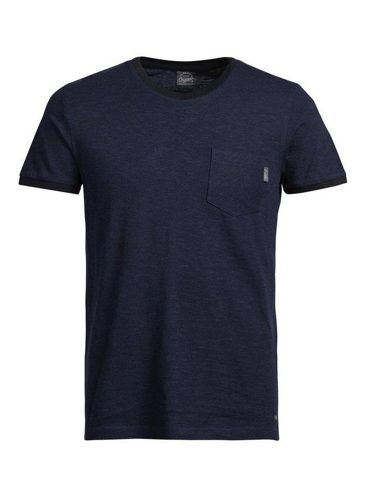 Jack & Jones Lebhaftes T-Shirt in Navy Blazer
