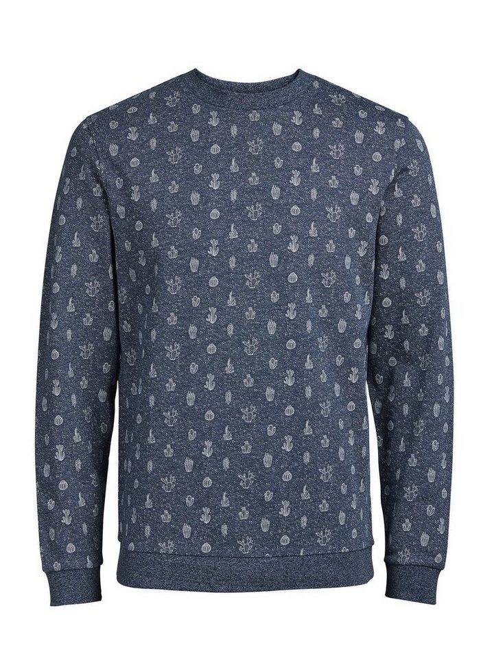 Jack & Jones Kaktusprint- Sweatshirt in Poseidon