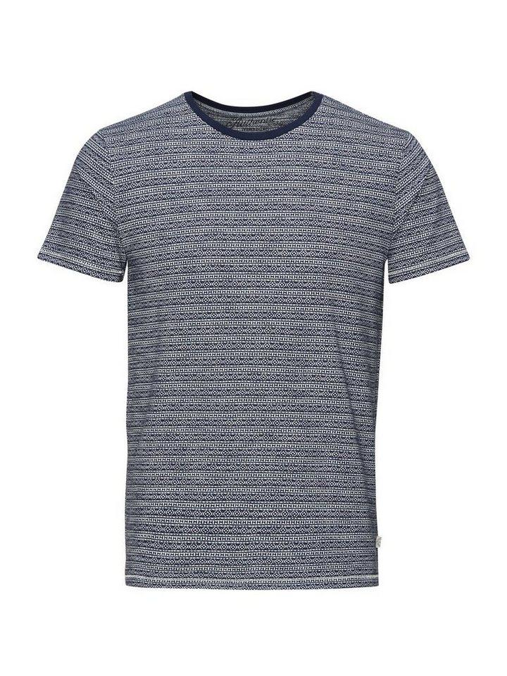 Jack & Jones Jacquardbedrucktes T-Shirt in Mood Indigo