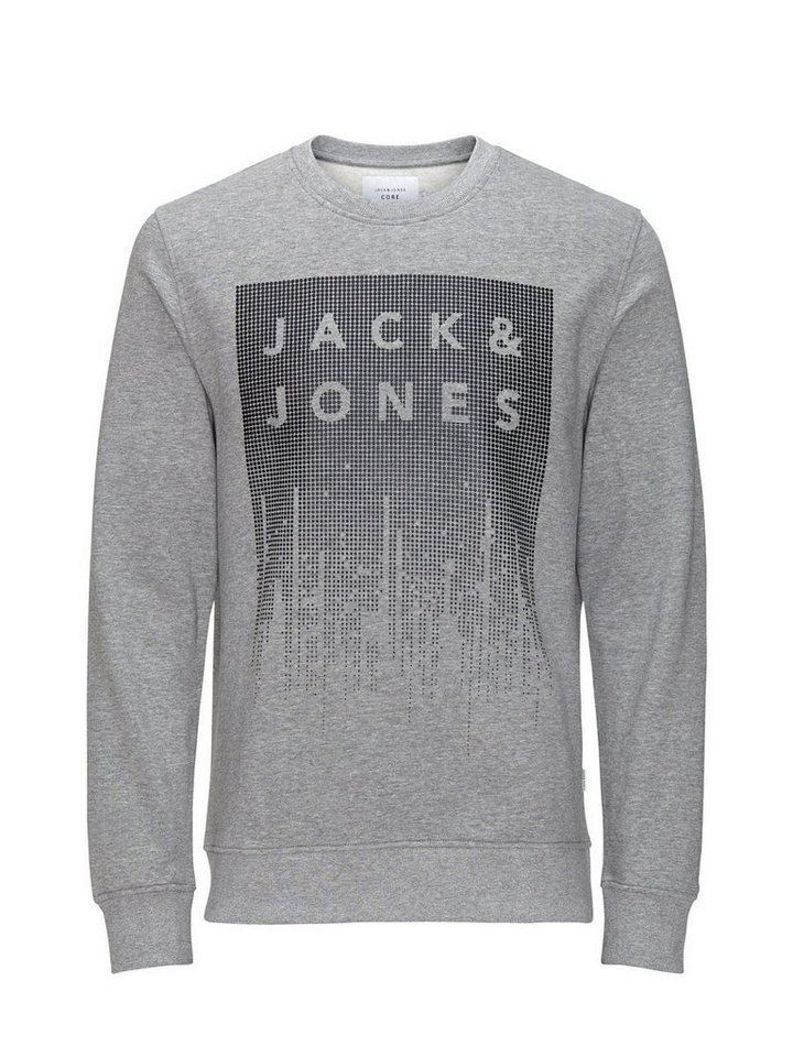 Jack & Jones Gummiprint- Sweatshirt in Light Grey Melange