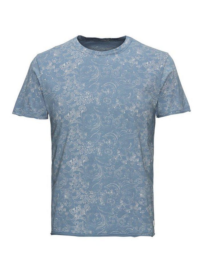 Jack & Jones Blumen-Print- T-Shirt in Blue Mirage