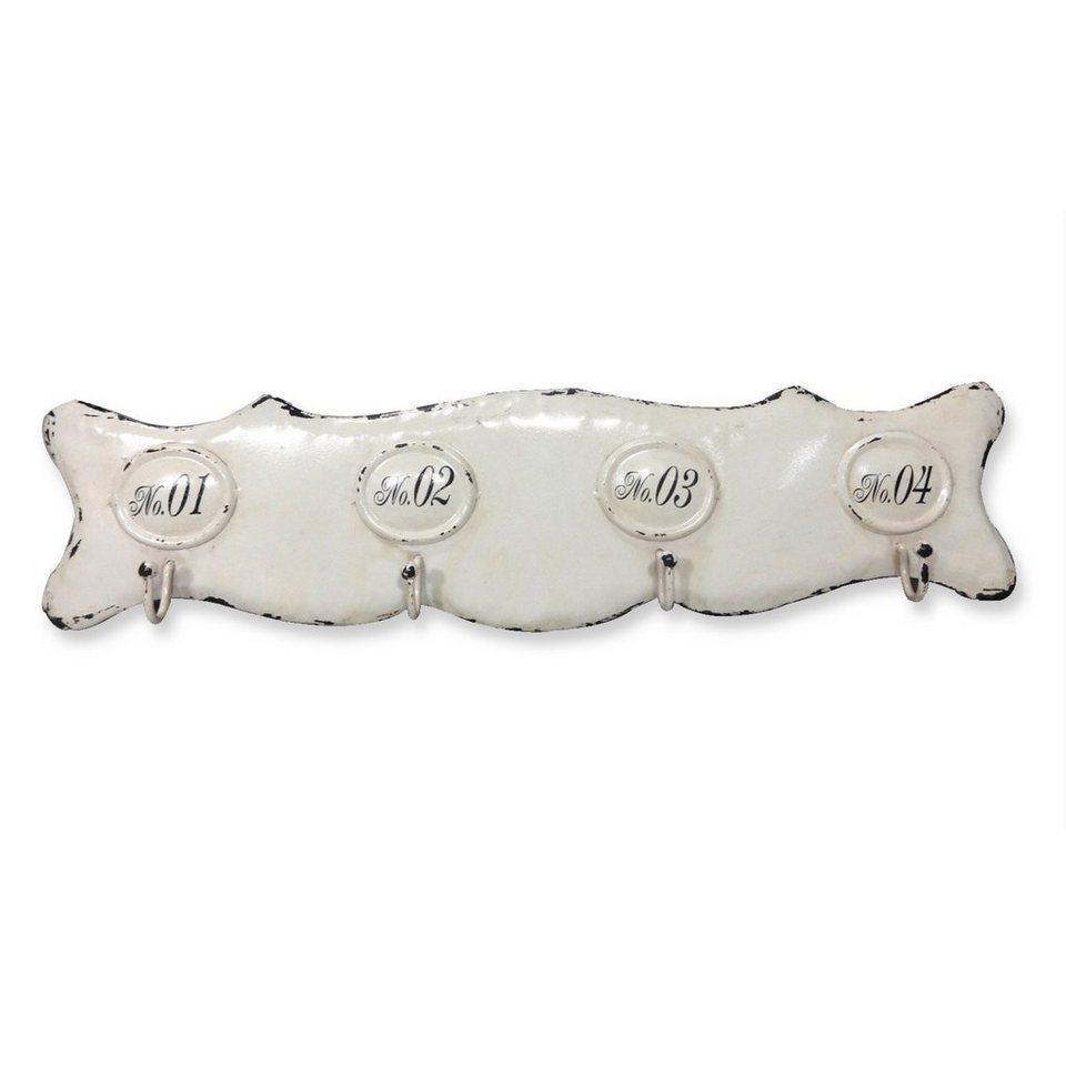 Loberon Hakenleiste »Sharpay« in antikweiß