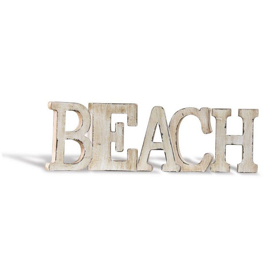Loberon Deko-Buchstaben »Beach« in weiß