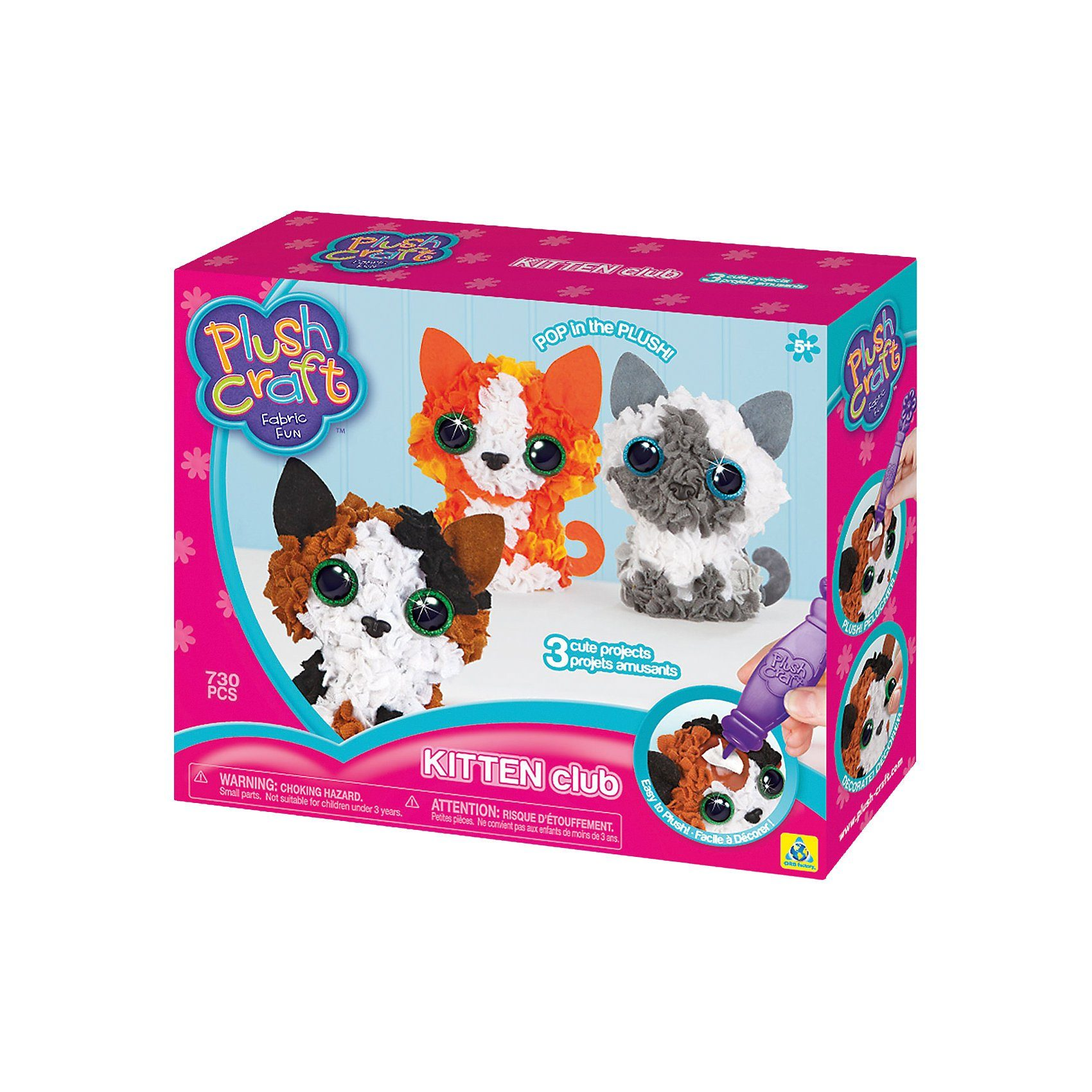 PlushCraft 3D-Mini-Figuren Kätzchen (Kitten Club)