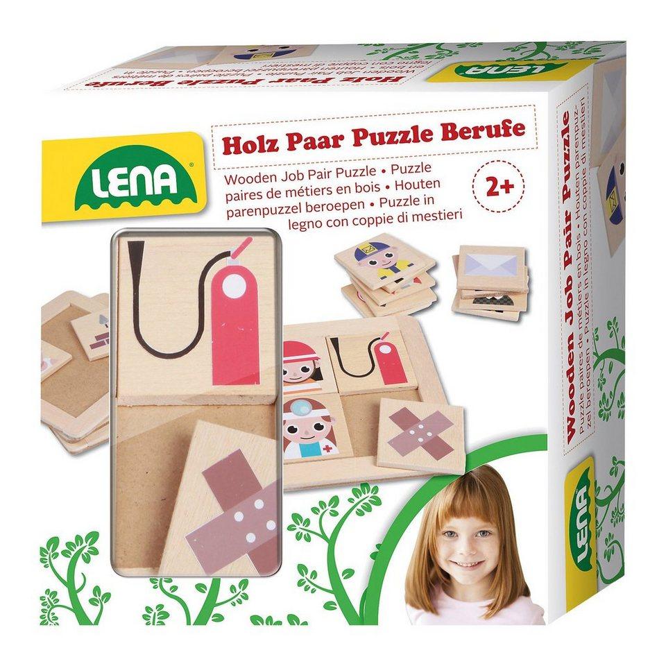 LENA Holz Paar Puzzle Berufe