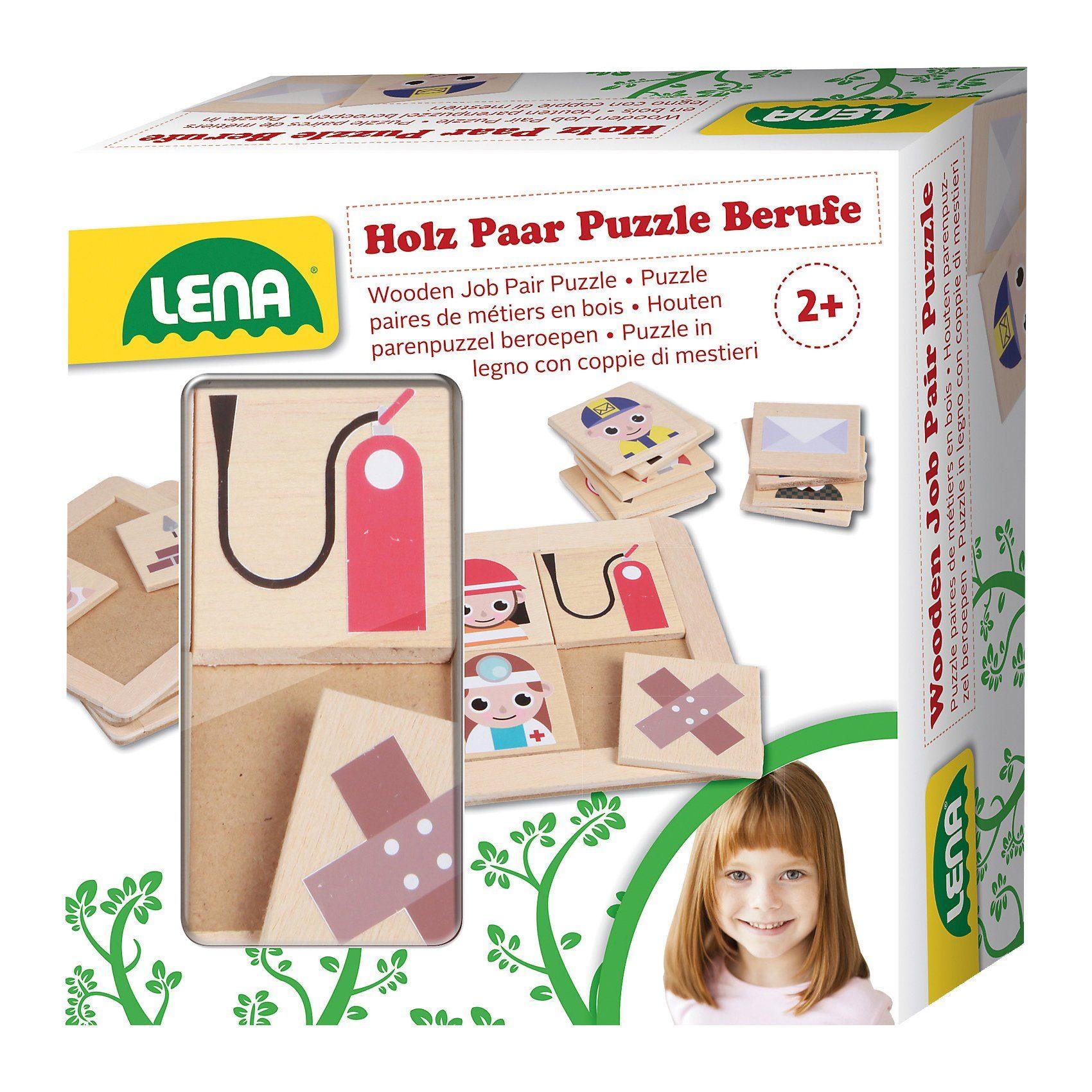 Lena® Holz Paar Puzzle Berufe