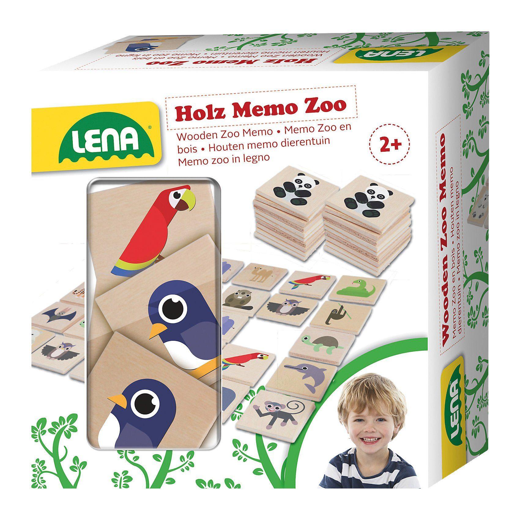 Lena® Holz Memo Zoo