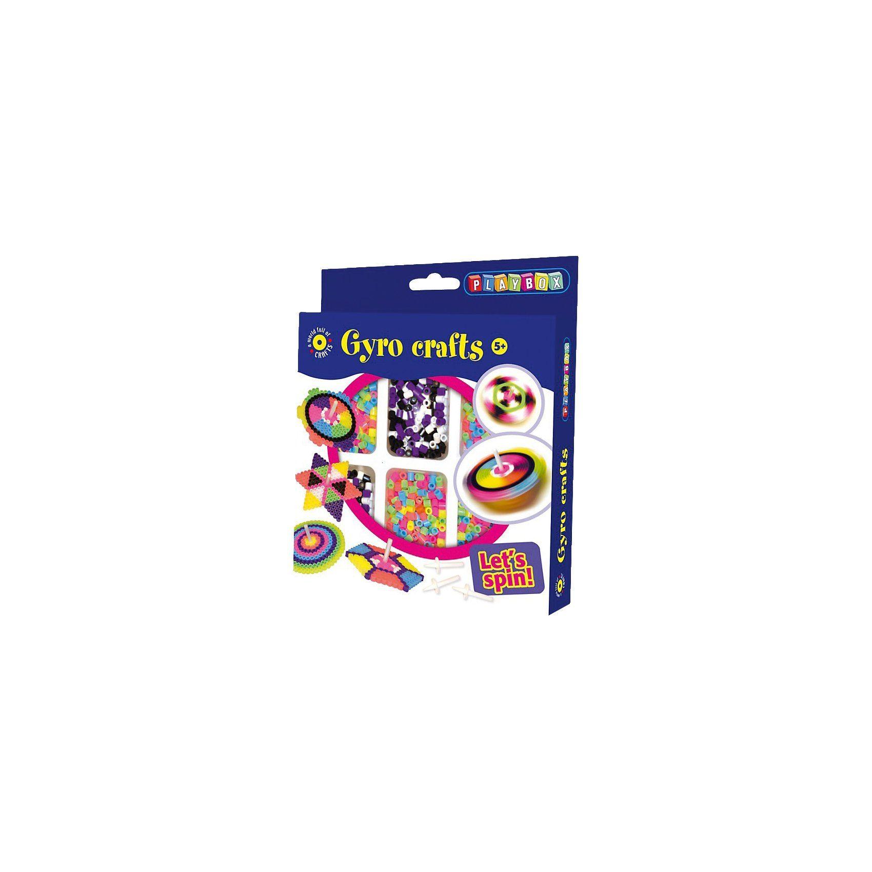 Playbox Bügelperlenset Kreisel, 2.000 Perlen & Zubehör