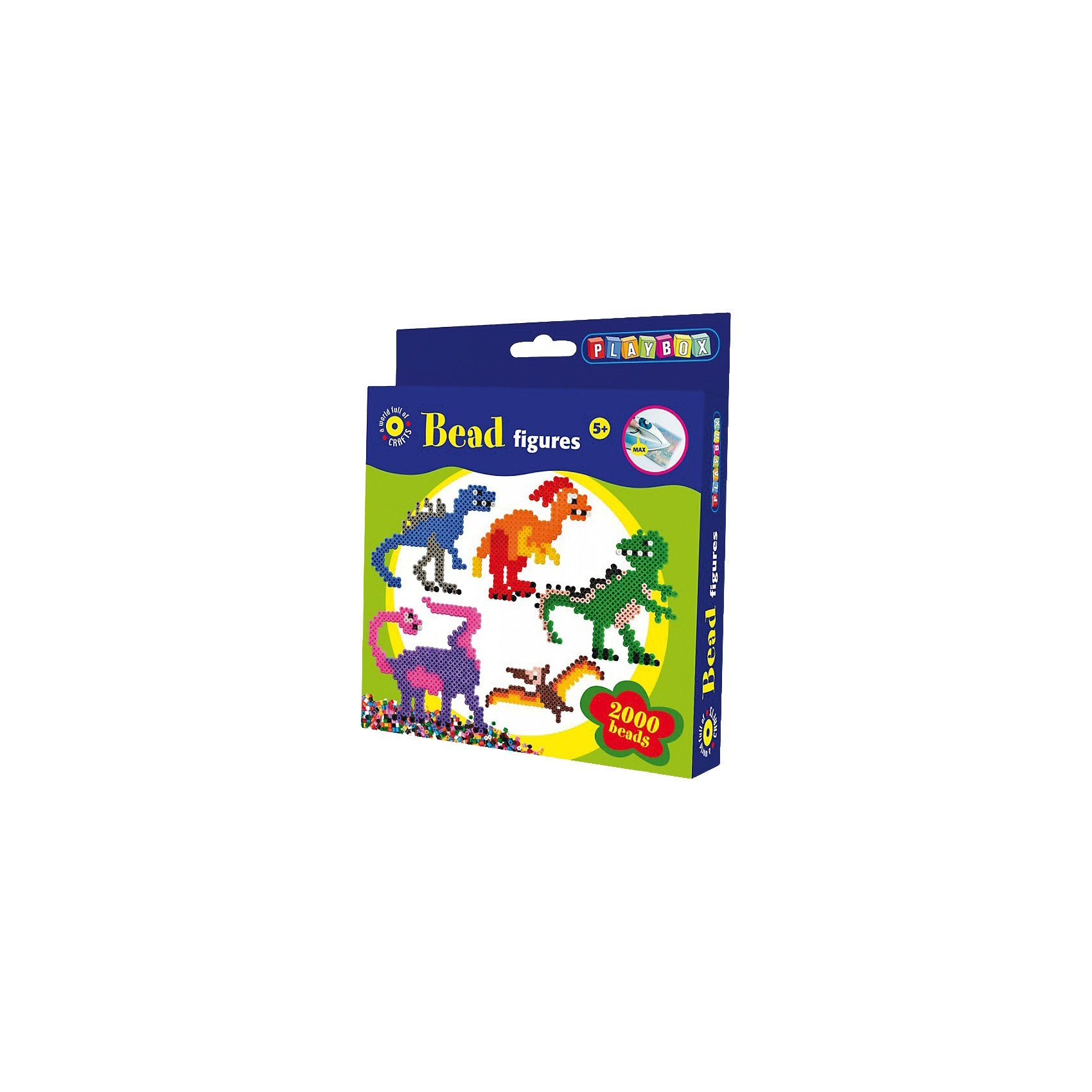 Playbox Bügelperlenset Dino, 2.000 Perlen