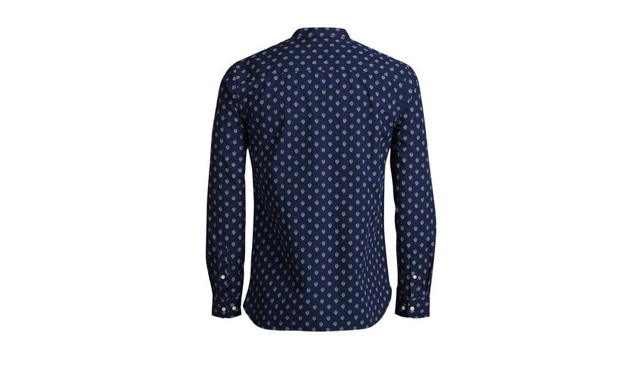 Nicekicks Günstig Online Verkauf Neuer Jack & Jones Bandkragen- Langarmhemd Wo Billige Echte Kaufen XUUQkgVE7