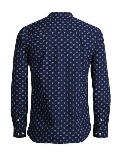 Jack & Jones Bandkragen- Langarmhemd