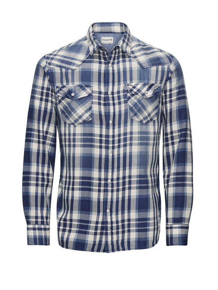 Jack & Jones Karo Western- Freizeithemd in Mood Indigo