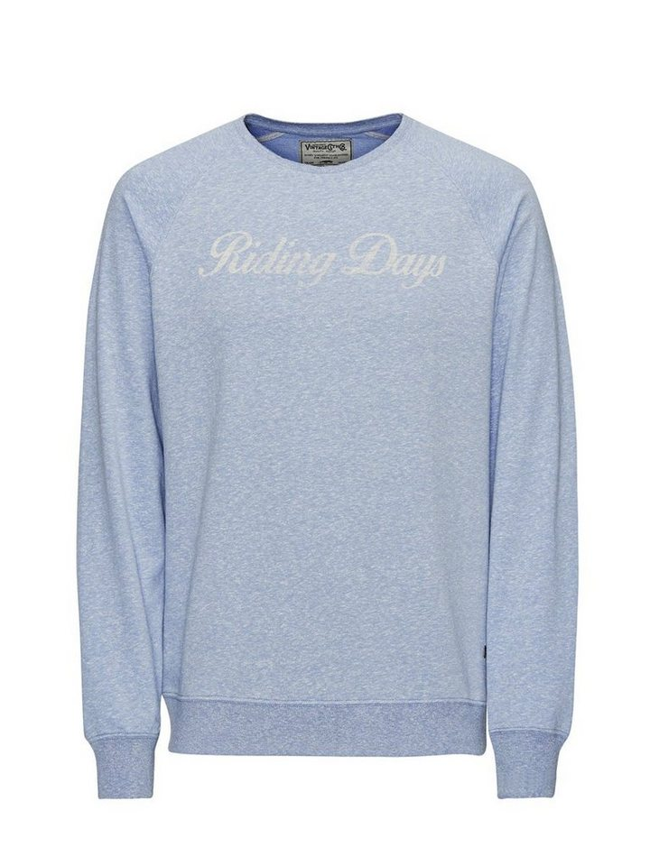 Jack & Jones Melange- Sweatshirt in Federal Blue