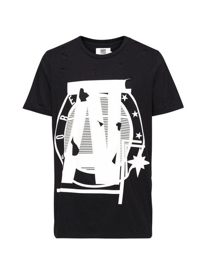 Jack & Jones Andy Tankmar Doppellagen- T-Shirt in Black