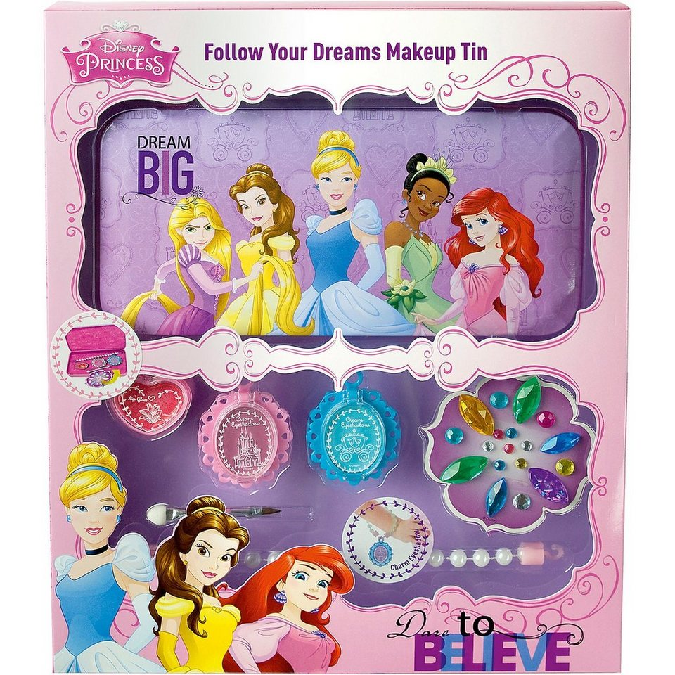 Empeak Disney Princess Kosmetikdose mit Make Up Set