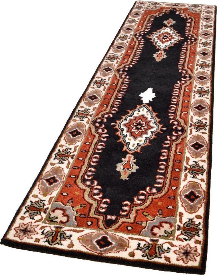 Orient-Läufer, Theko exklusiv, »Royal Kirman«, reine Schurwolle, handgetuftet in schwarz