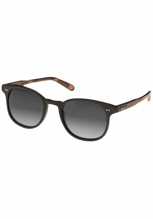 WOOD FELLAS Sonnenbrille im edlen Look in schwarz-grau