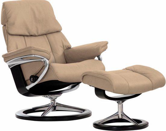 Stressless® Relaxsessel »Ruby«, mit Hocker, mit Signature Base, Größe S, mit Schlaffunktion
