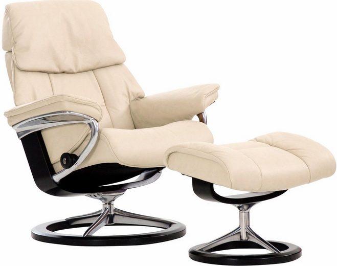 Stressless® Relaxsessel »Ruby«, mit Hocker, mit Signature Base, Größe L, mit Schlaffunktion