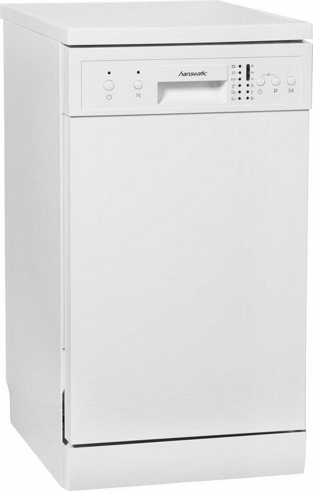 Hanseatic Geschirrspüler WQP8-7636 white A+, A+, 9 Liter, 9 Maßgedecke in weiß