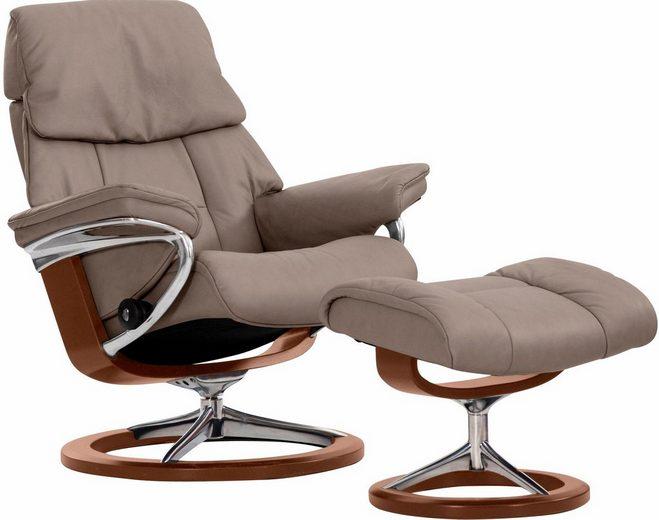 Stressless® Relaxsessel »Ruby«, mit Hocker, mit Signature Base, Größe M, mit Schlaffunktion