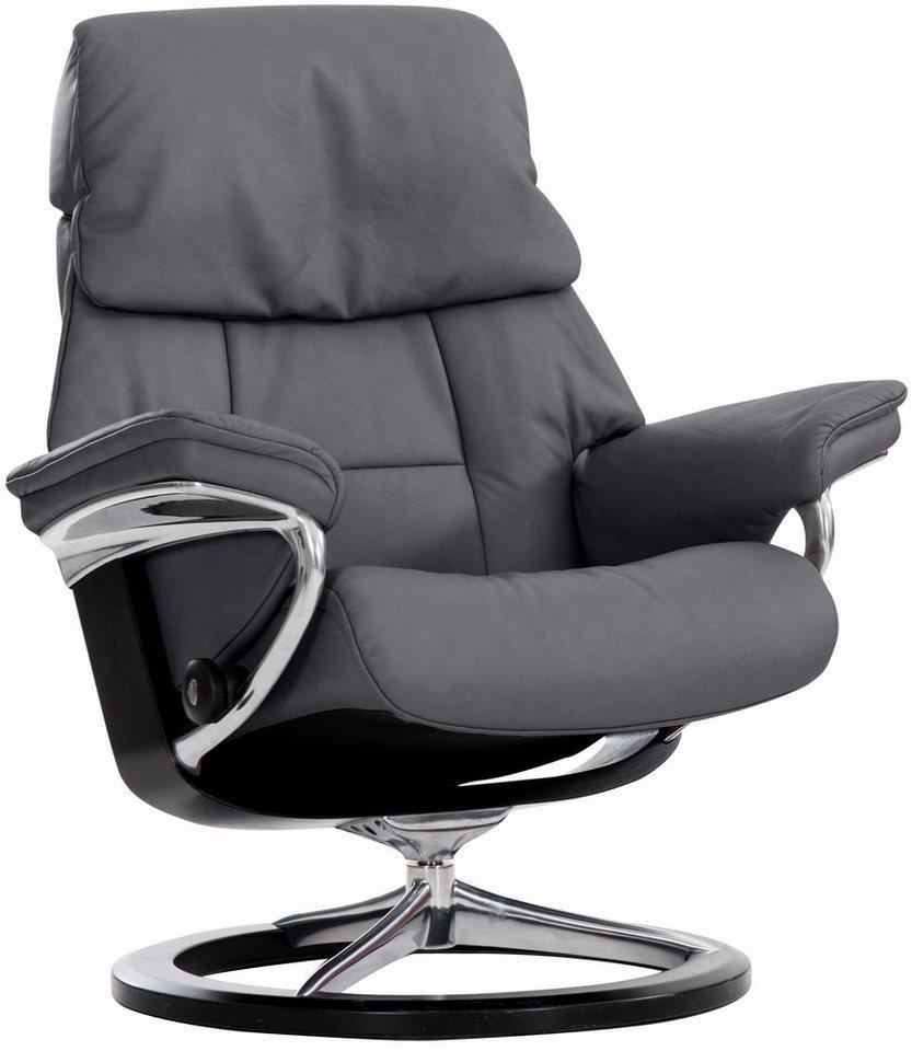 Stressless® Relaxsessel »Ruby« mit Signature Base, Größe L, mit Schlaffunktion in grey